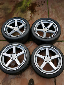 Stance sc5 rims and tyres ford pattern Ballajura Swan Area Preview
