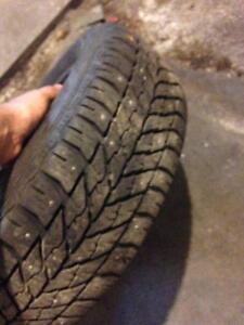 Stuffed winter tires hardly used bought l less then a year ago