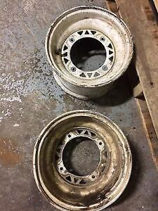 Used White ATV Wheels 10x6, 4/156, 4+2 Offset, for Polaris, Pair Edmonton Edmonton Area image 2