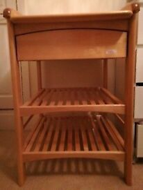 Changing table solid wood excellent condition