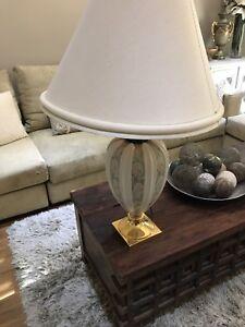 Pair of massive lamps