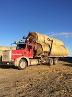 Custom Round Bale Hauling, Self Loading & Unloading Truck & 53'