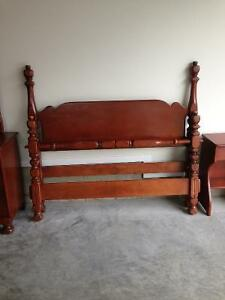 Antique double seven piece bedroom suite