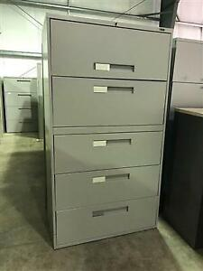 Global 5 Drawer Lateral Filing Cabinet - Grey - $325