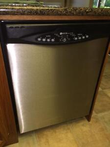 Maytag built in dishwasher with stainless steel front
