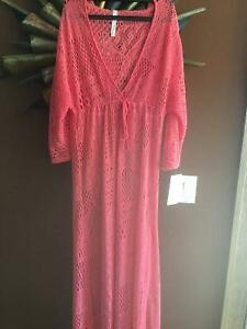 Reduced- Sexy coral knitted Florida wear beach dress Windsor Region Ontario image 1