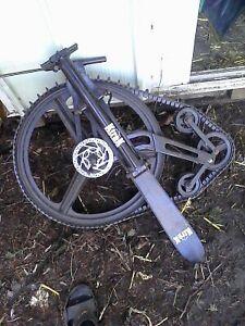K-trak snowmobile bike attachment