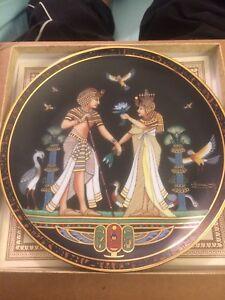 Osiris porcelain 24k gold Egyptian plate Highland Park Gold Coast City Preview