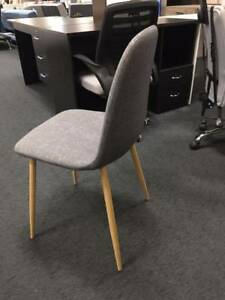 Brand New Grey Fabric Dining Chairs/Guest Chairs/Study Chairs