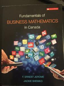Fundamentals of Business Mathematics In Canada : *****Sold*****