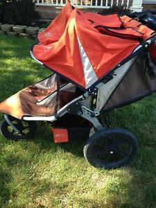 Bob Duallie double running Stroller with parent console