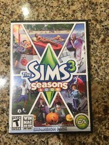 Sims 3 Seasons Expansion Pack+Box/Paperwork