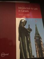 Introduction to Law in Canada-Centennial Law Clerk Program Text