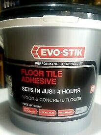 Evo-Stik FLOOR TILE ADHESIVE FAST SET FOR WOOD AND CONCRETE FLOORS