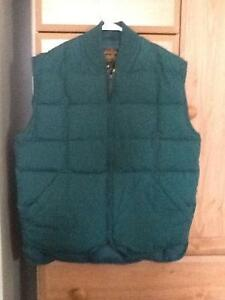 Eddie Bauer Men's Down Vest, Green, Like new