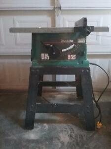"10"" Makita portable table saw"