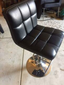 4x New York Bar Stools chairs stainless steel PUV leather
