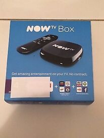 Now TV box and remote, unused