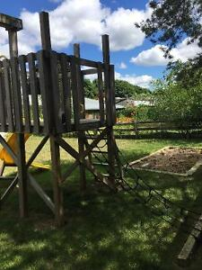 Swing Set with Fort, Slide and Pirate Net London Ontario image 6