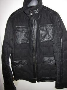 MENS BLACK PARASUCO GOOSE DOWN FIELD JACKET