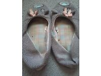 Well worn womens slippers