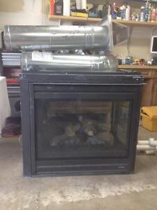 fireplace 3 sided gas