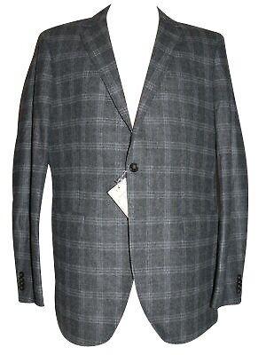 Wolle Flanell Jacke (GANT Herren Sakko Grau kariert Gr. 50  Wolle Flanell Jacke)