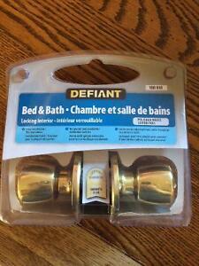 Brand new bath/bed doorknob kit
