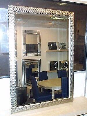 Wall Mirror in Silver Mesh frame. 101 x 71cm. BNIB. RRP £100