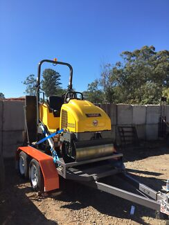 Roller on trailer for hire