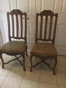 Matched pair of antique chairs Kingston Kingston Area image 1