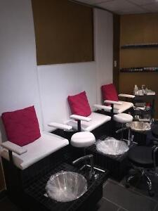 Pedicure Station $500 and 3 manicure tables $150 s