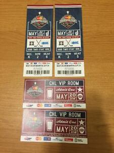 FRONT ROW MEMORIAL CUP SEATS & 2 passes for CHL VIP ROOM