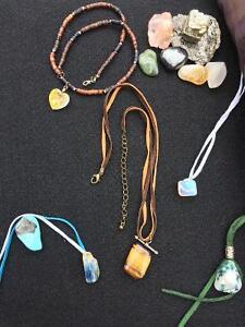 Custom made gem stone/crystal pendants.