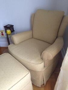 High end rocking chair and ottoman