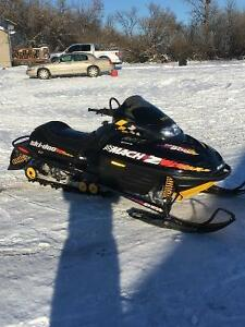 2 - Mach Z 800 LT ski doos with parts sled for sale