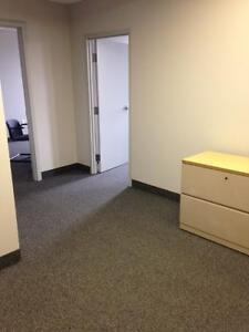 Large Office, Bedford: 3 office suite, common area & storage
