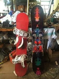Snowboard and Snowboard with bindings