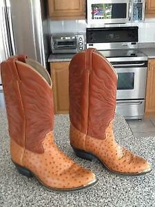 """""""REDUCED""""--WESTERN LEATHER BOOTS, MADE IN CANADA, size 9.5,--$20"""