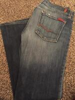 WOMENS 7 FOR ALL MANKIND JEANS SZ 31