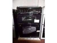 Brand new black Hotpoint gas cooker (HAG60K) with 1 year manufacturer warranty.