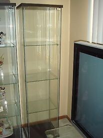 Free Standing Clear Glass Display Cabinet