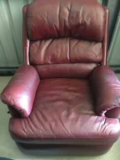 Moran Burgundy leather recliner & Moran leather recliner chair | Armchairs | Gumtree Australia Gold ... islam-shia.org