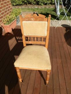 Attractive 4 Antique Dining Chairs. $50.00. Waurn Ponds Part 3