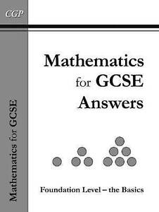 Cgp Books-Maths For Gcse, Foundation The Basics Answer Book Inc Cd-Rom  BOOK NEW