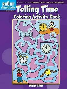 BOOST Telling Time Coloring Activity Book, Winky Adam