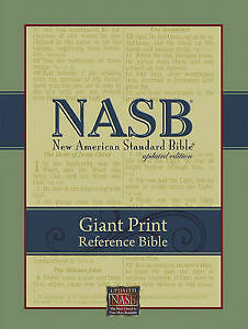 Giant Print Reference Bible-NASB by Foundation Publications (Leather / fine...