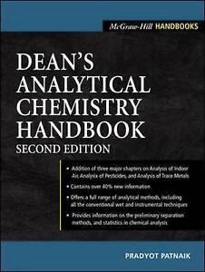 Dean's Analytical Chemistry Handbook, Patnaik, Pradyot