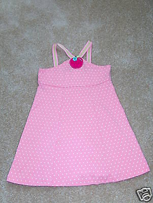 EUC GYMBOREE Candy Apple Pink Dot Dress sz 5!