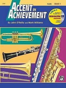 NEW Accent on Achievement, Bk 1: Flute, Book & CD by John O'Reilly